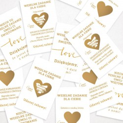 ZDRAPKI zadania dla gości weselnych Kolekcja Love 21szt HIT