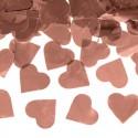KONFETTI WYSTRZAŁOWE metaliczne serca 60cm ROSEGOLD