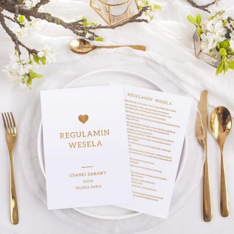 REGULAMIN wesela zabawny upominek dla gości