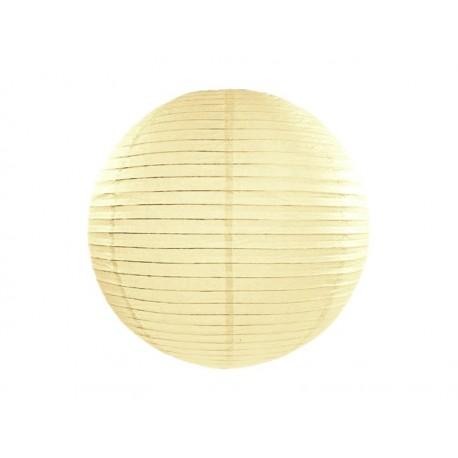 LAMPION papierowy 25cm KREMOWY