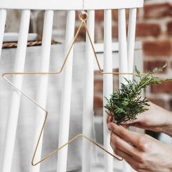 ZAWIESZKI świąteczne do aranżacji Metalowe Gwiazdy 2szt