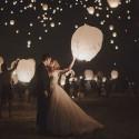 LAMPION Spełnionych życzeń biały ślubny lampion szczęścia