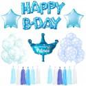 ZESTAW balonów urodzinowych Niebieski DLA CHŁOPCA