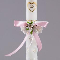 STROIK Z OKAPNIKIEM PLASTIKOWYM na świecę Delicate Pink