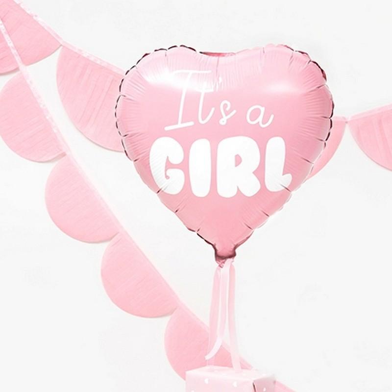 Balon w kształcie serca różowy