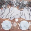 SATYNA bieżnik świąteczny rolka 36cmx9m SREBRNA