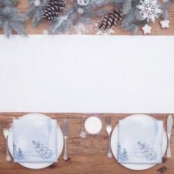 SATYNA bieżnik świąteczny rolka 36cmx9m BIAŁA
