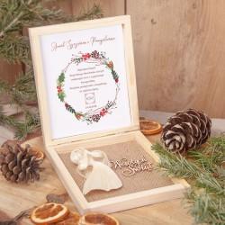 PREZENT świąteczny firmowy Anioł Szczęścia i Pomyślności Z LOGO