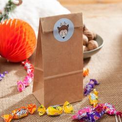 TOREBKI papierowe na upominki Eco Zwierzaki 6szt(+naklejki)