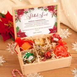 ZESTAW firmowy świąteczny w skrzyni Słodkie Święta Z LOGO