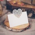 WINIETKI bileciki składane Ażurowe Serce 10szt 9x6,5cm