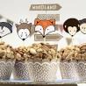 FOREMKI papilotki papierowe na muffinki Liski + TOPPERY zestaw 12szt