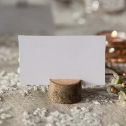 STOJAKI na wizytówki drewniane 3-4cm 6szt