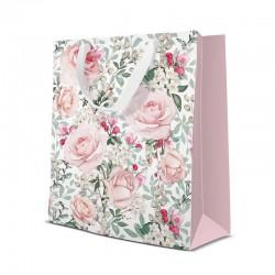 TORBA na prezent Róże Vintage 20x25x10cm
