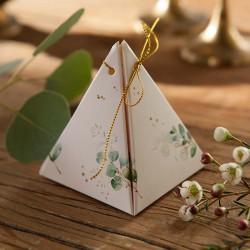 PUDEŁECZKA podziękowanie piramidki Gałązka Eukaliptusa 10szt (+sznurki+bileciki)