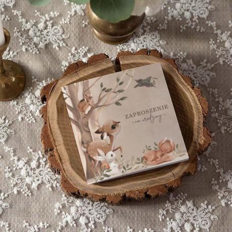 ZAPROSZENIA na Urodziny Leśne Czary 10szt (+koperty)