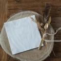 SERWETKI tłoczone Lily Białe Elegance 40x40cm 40szt