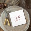 SERWETKI na 18 urodziny z napisem Rosegold 33x33cm 20szt BIAŁE