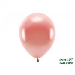 BALONY EKO biodegradowalne METALIZOWANE 30cm 10szt ROSEGOLD