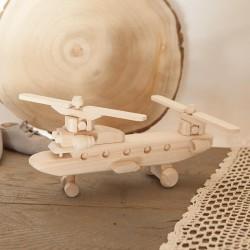 ZABAWKA drewniana dla chłopca Helikopter RUCHOME SKRZYDŁA