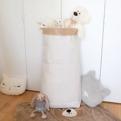 POJEMNIK na zabawki worek papierowy