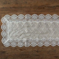 BIEŻNIK na stół z haftowaną koronką Rustykalny 40x180cm