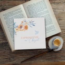 ZAPROSZENIA na Chrzest dla dziewczynki i chłopca Boho (+koperty)