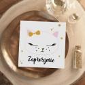 ZAPROSZENIA na Urodzinki dziecka Słodki Kotek 10szt (+koperty)