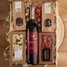 PODZIĘKOWANIE dla Rodziców kosz z winem Aronia Z IMIONAMI
