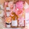 BOX dla Świadkowej z winem musującym Z IMIENIEM Mega Róż