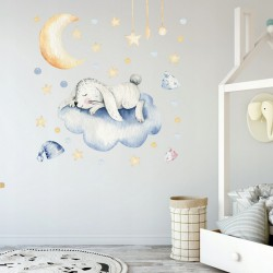 NAKLEJKI na ścianę do pokoju dziecka Śpiący Króliczek 50x100cm