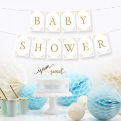 BANER girlanda Baby Shower ZŁOTY DUŻY FORMAT