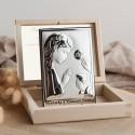 PAMIĄTKA I Komunii dla dziewczynki Srebrny Obrazek Srebro 925 LUX