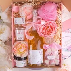 PREZENT na 18 urodziny z winem musującym Z IMIENIEM Mega Róż