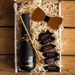 PREZENT na 18,30,40 Urodziny pudełko Z IMIENIEM Wino i mucha