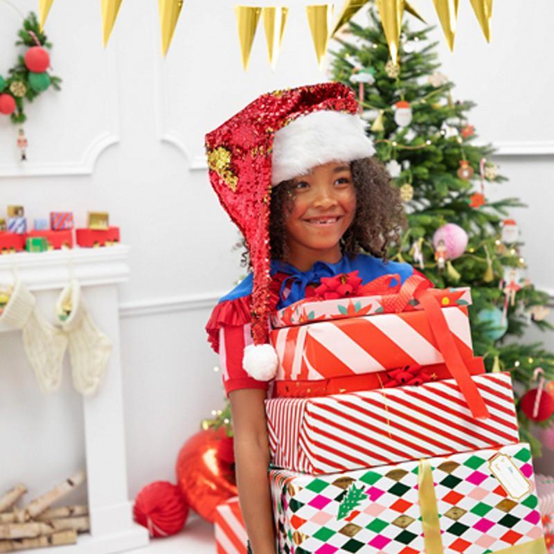Czapka świąteczna z cekinami
