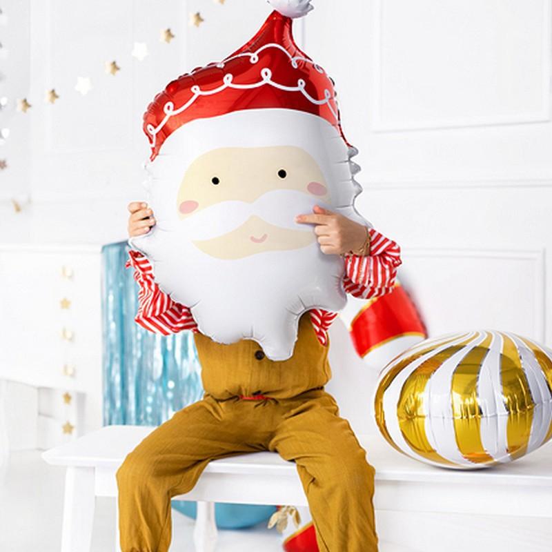 Duży balon foliowy Mikołaj