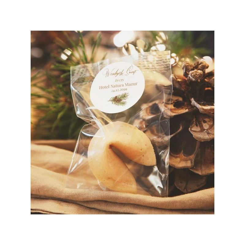 Personalizowane ciasteczko z wróżbą i nazwą firmy