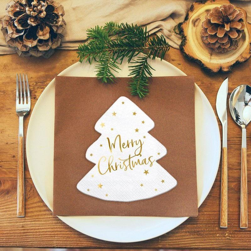 Klasyczne serwetki na Boże Narodzenie