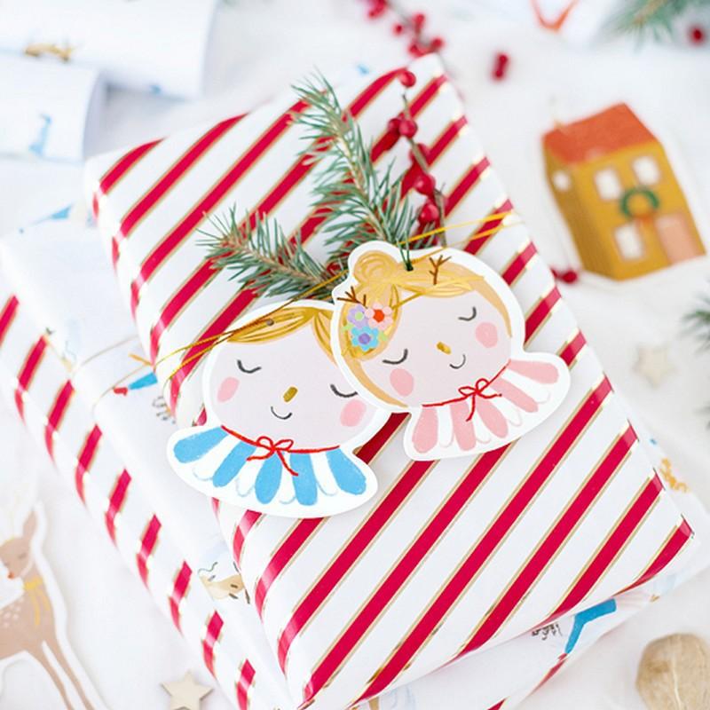 Zawieszki do prezentów na Boże Narodzenie w stylu retro