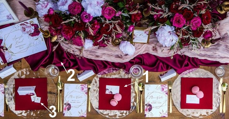 Mocny akcent stołu weselnego