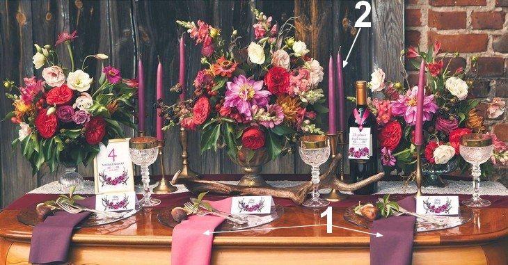 Jesienne dekoracje na wesele