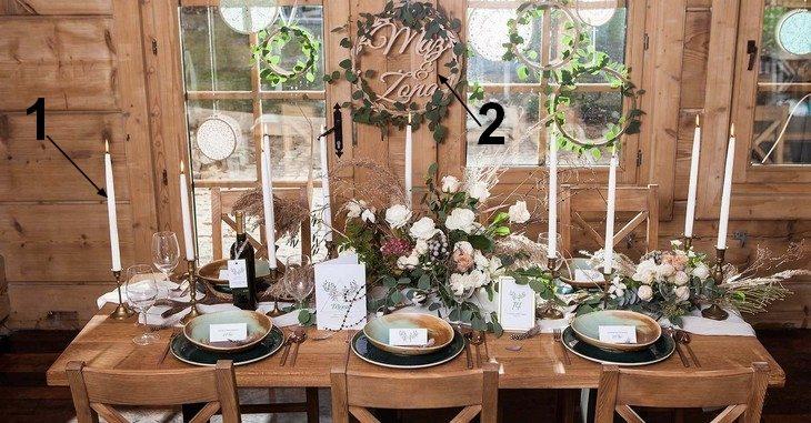 Drewniane dekoracje weselne