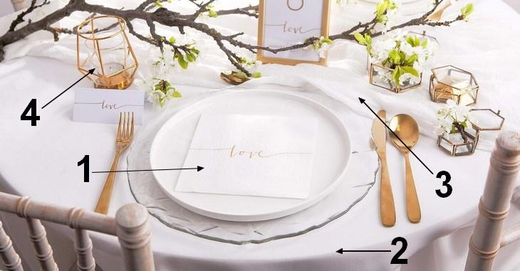 Minimalistyczne dekoracje stołu