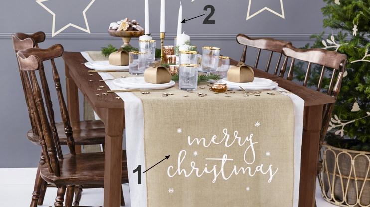 naturalne nakrycie stołu na święta