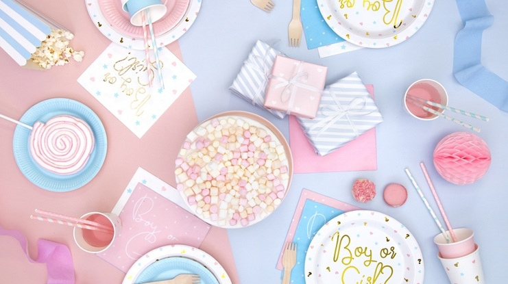 Dekoracje stołu na baby shower