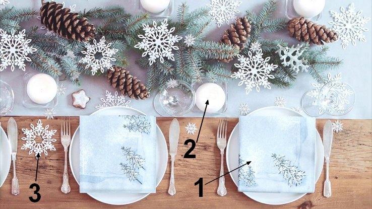 snowland dekoracja stołu na święta