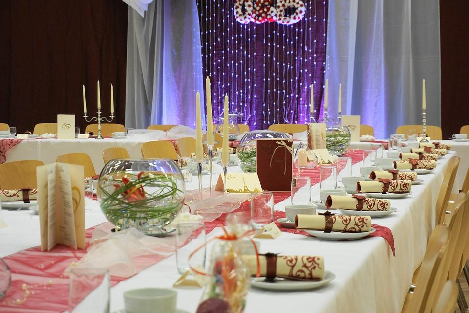 Organza dekoracja wesela