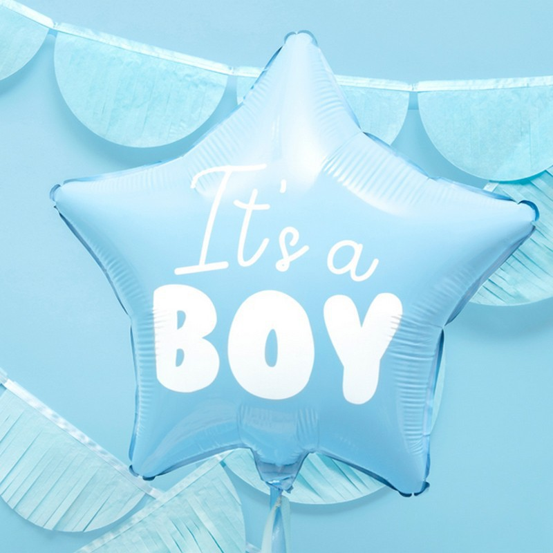 Foliowy balon gwiazdka dla chłopca It's a boy