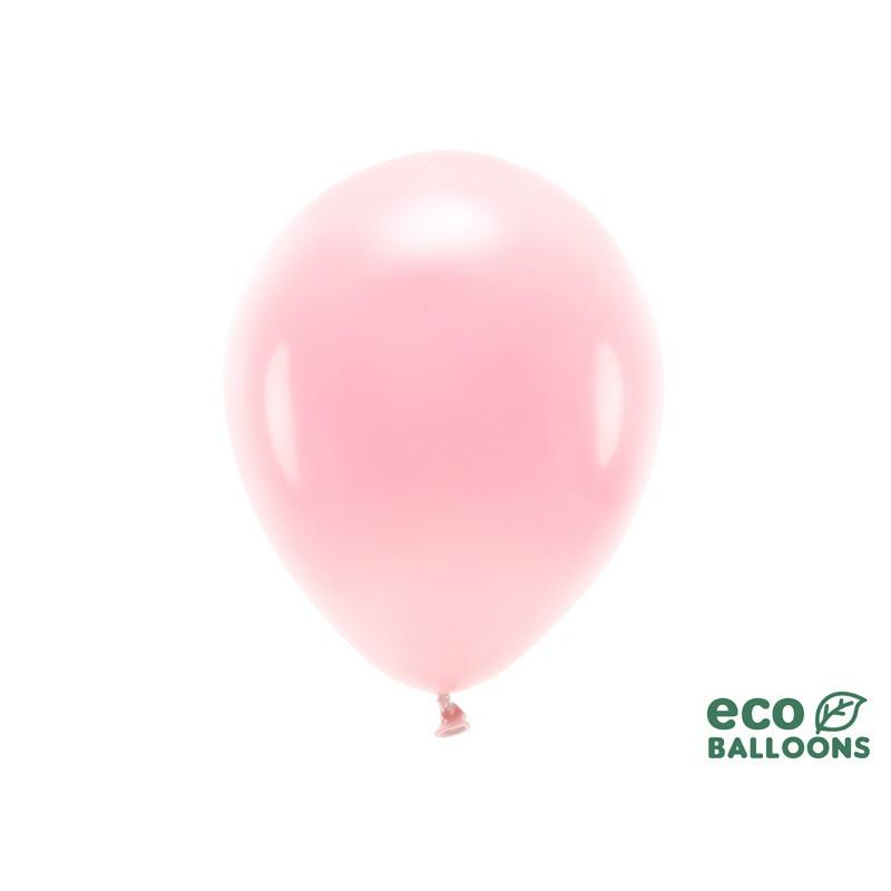 Eco balony na Baby Shower w kolorze różowym
